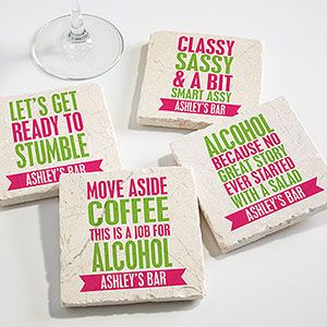 extraordinary inspiration drink coaster. Party It Up Personalized Tumbled Stone Coaster Set 44 best Designs images on Pinterest  coasters