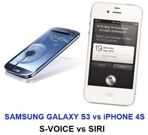 "The Samsung Galaxy S3′s S-Voice can be used to carry out different commands. The phone wakes up if you simply say ""Hi Galaxy"". On the other hand, Siri of the iPhone 4S acts like a virtual or personal assistant that is capable of making phone calls, sending text messages and much more. Find out differences between Samsung Galaxy S3 vs iPhone 4S and their voice commands @ http://www.mobilesandtablets.co.uk/samsung-galaxy-s3-vs-iphone-4s-s-voice-over-siri/"