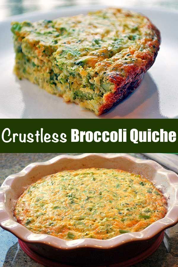 Crustless Broccoli Quiche Recipe Quiche Recipes Healthy Food