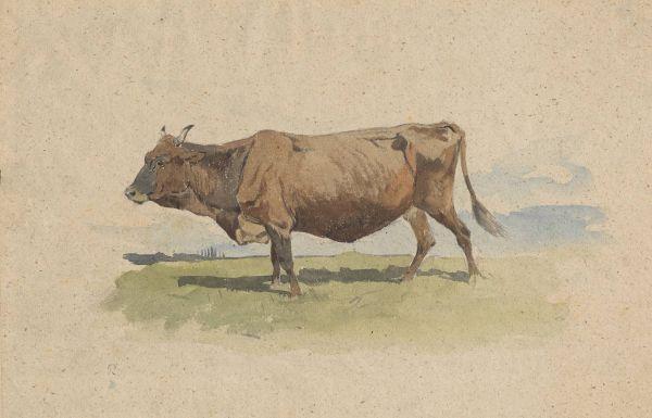 Krowa na pastwisku - Józef Brandt