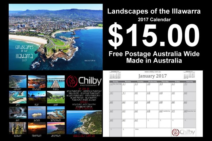 Landscapes of the Illawarra 2017 Calendar - 20 left
