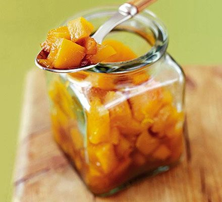 Enjoy the tangy flavours in this easy-to-make pumpkin chutney which also works well using courgettes or marrows