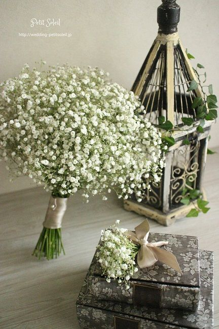 かすみ草のブーケ 一万円 Baby's breath wedding bouquet