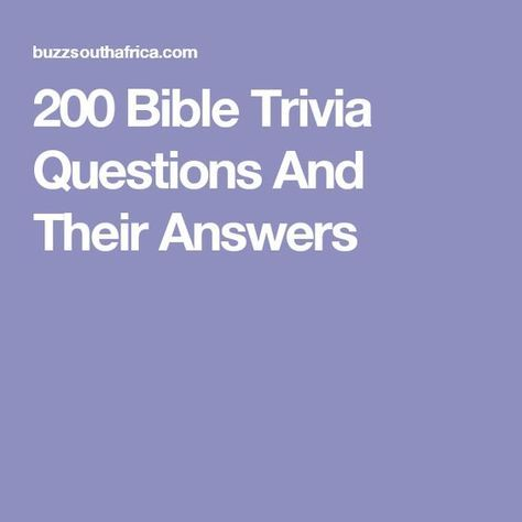 44 Best Bible Quiz 4 Kids. Images On Pinterest | Bible Quiz, Bible Trivia  And Bible Activities