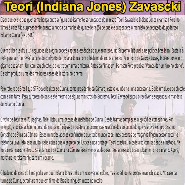 Teori (indiana Jones) Zavascki [Coluna do Elio Gaspari na Folha de SP] ➤ http://www1.folha.uol.com.br/colunas/eliogaspari/2016/05/1769017-teori-indiana-jones-zavascki.shtml ②⓪①⑥ ⓪⑤ ⓪⑧ #STF