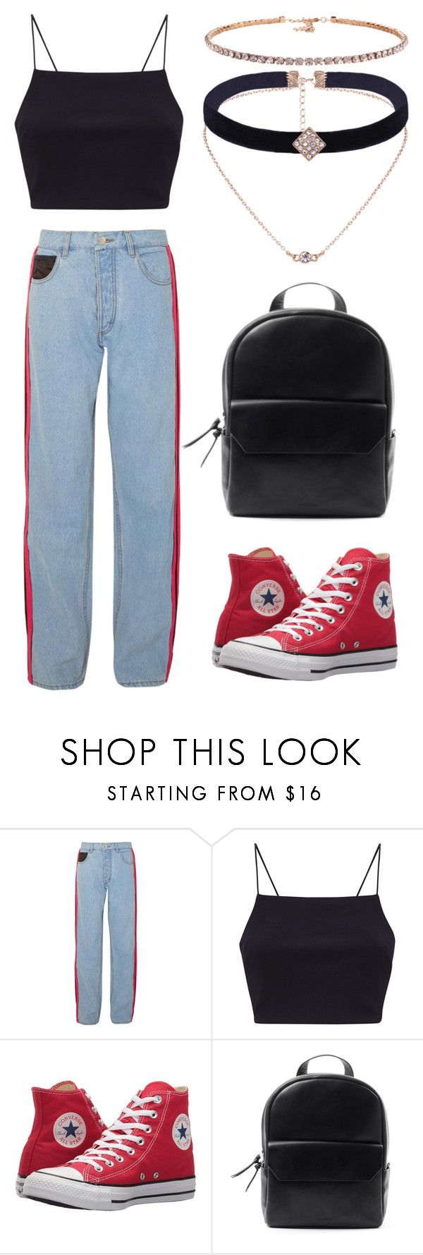 """""""~When Your Bored In Fashion Class~"""" by creativegurlsrbaexoxo ❤ liked on Polyvore featuring Koché and Converse"""