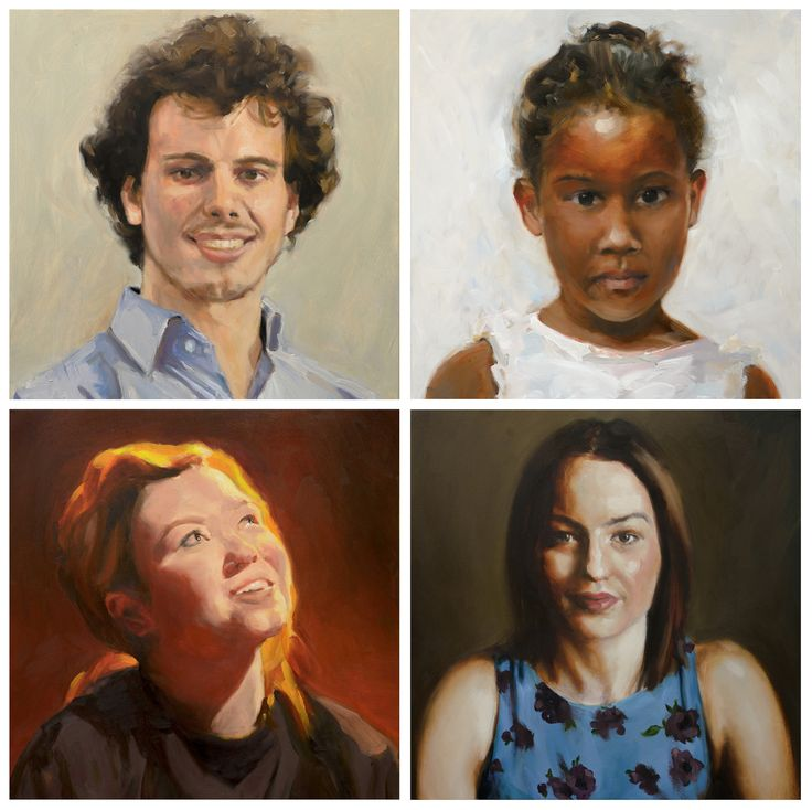 https://flic.kr/p/W68PRX | Four portraits 'en bloc' | #philip knipscheer 2017 oil on canvas alla prima