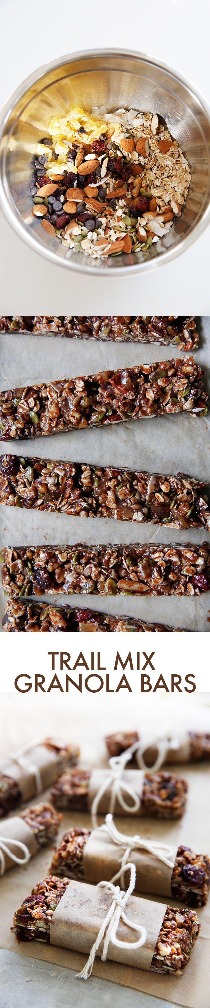 Trail Mix Granola Bars (gluten-free) | Lexi's Clean Kitchen