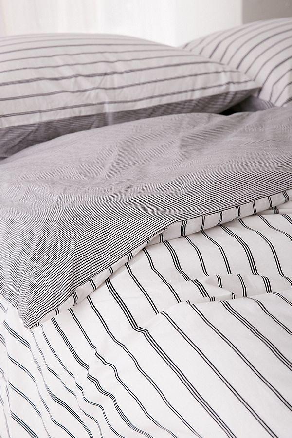 Reversible Stripe Duvet Cover Striped Duvet Striped Duvet Covers Duvet Covers