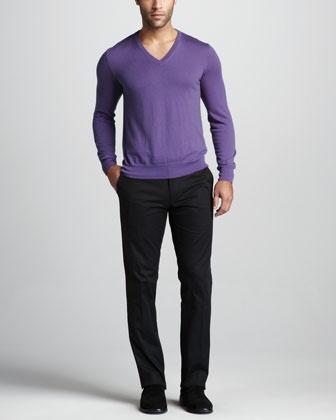 Cashmere V-Neck Sweater by Ralph Lauren Black Label at Bergdorf Goodman.
