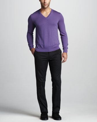 Cashmere V-Neck Sweater by Ralph Lauren Black Label at Bergdorf Goodman.