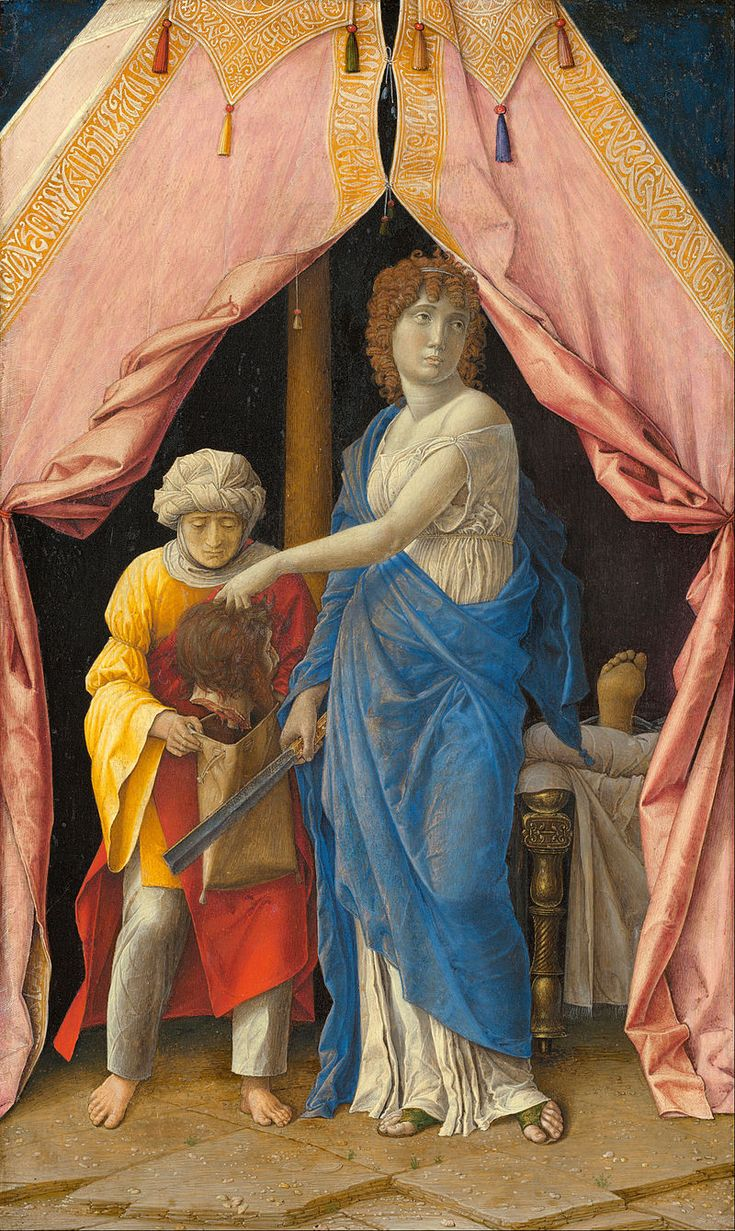 Andrea Mantegna or Follower (Possibly Giulio Campagnola) - Judith with the Head of Holofernes - Google Art Project - Andrea Mantegna - Wikipedia