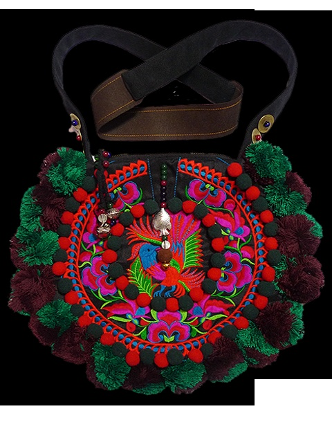 Hmong / miao / ethnic / embroidered bag - Moon Crescent