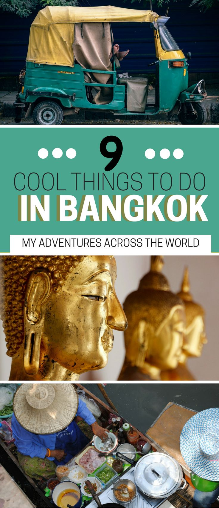 Heading to Bangkok, Thailand soon? Check out these 9 cool things to do in Bangkok. A guide to the best things to do in Bangkok + a Bangkok guide with tons of Bangkok travel tips - via @clautavani