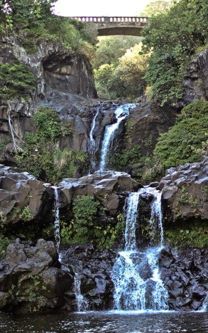 Play in the waterfalls at the 7 Sacred Pools, Hana, Maui, Hawaii