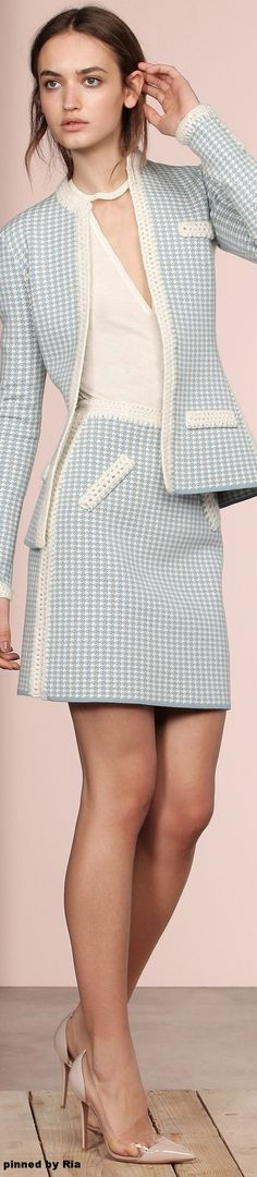 business office work formal suit @roressclothes closet ideas women fashion outfit clothing style apparel Vicedomini FW 2016-17 l Ria
