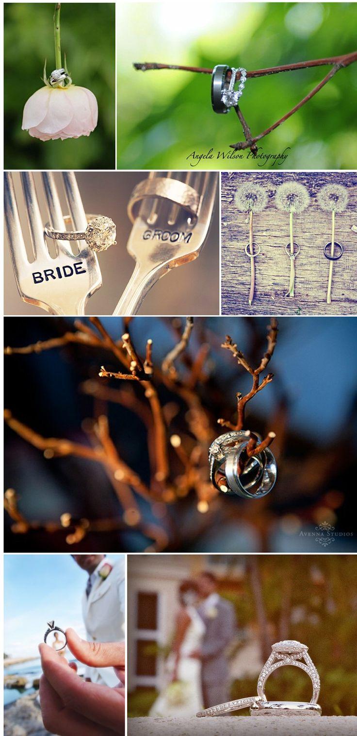 Magnifique photos d'alliances, pour un mariage d'automne!!! A faire absolument pour son mariage!