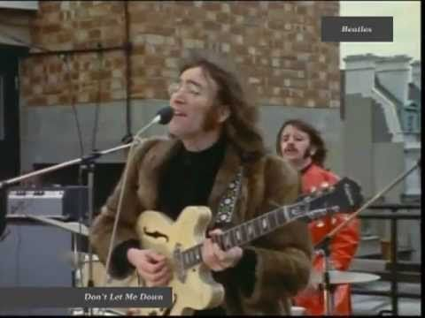 """The Beatles 'Don't Let Me Down' from their legendary 1969 final live """"roof top"""" performance."""