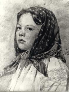 Head of a Lithuanian Woman   Fałat Julian (1853-1929)