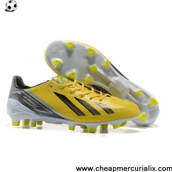 Buy New Messi Adidas Shoes - Adidas Adizero F50 TRX FG Yellow White Black Football  Boots
