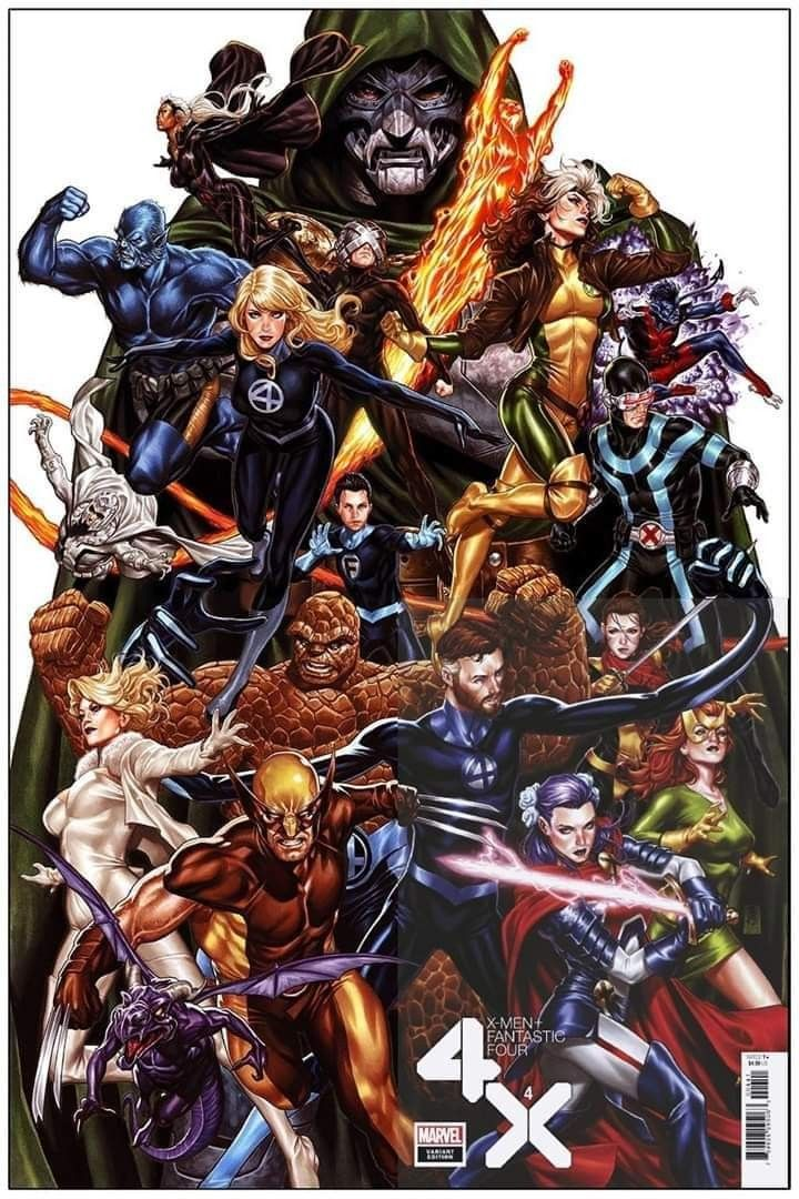 X Men And Fantastic Four By Mark Brooks In 2020 Fantastic Four Marvel Comics Art X Men