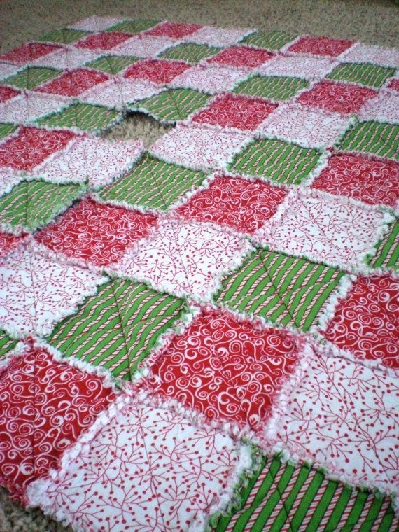 Christmas Tree Rag Quilt Quilts Pinterest Quilts, Christmas