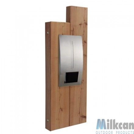 Atlanta Timber Panel with Capri Letterbox
