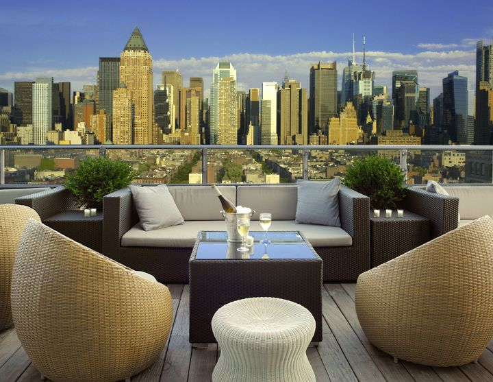 "10 incredible hotel rooftops ""Ink48 has become my favorite hotel in NYC… I love to get a drink on the roof and enjoy the best view of NYC!"""