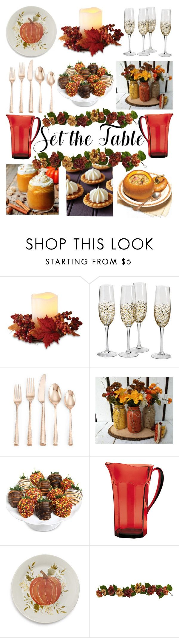 """Autumn, sweet Autumn ~ fall dinner"" by paloveigaa ❤ liked on Polyvore featuring interior, interiors, interior design, home, home decor, interior decorating, Order Home Collection, Lenox, Golden Edibles and Guzzini"