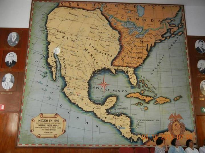 Mexico Map 1794.Mapa De La Republica Mexicana En 1794 En El Gran Salon Libertador