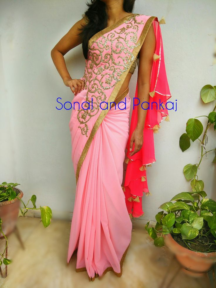 Gorgeousness overloadedpre stitched saree with frilly back drop perfect for dinner party evening dates cocktail lookWhatsapp for orders and booKings at +919669166763. 09 August 2017
