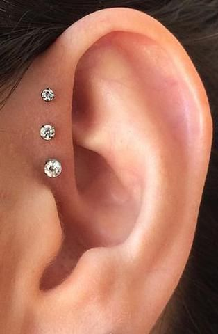 Nur Swarovski Circle Crystal Ear Piercing Jewelry …