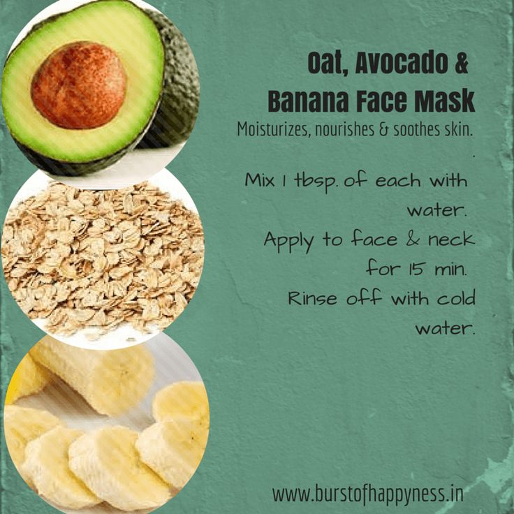 27 best beauty tips images on pinterest beauty tips beauty hacks oat avocado banana face mask to moisturize nourish soothe skin solutioingenieria Image collections