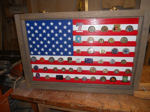 US Flag Coin Display military challenge coin by LoneStarWood