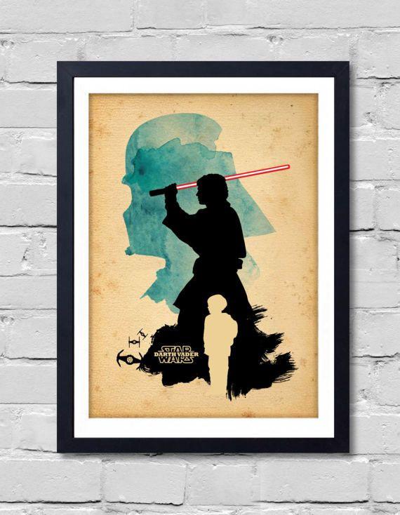 Vintage Star Wars Poster. Darth Vader by POSTERSHOT on Etsy