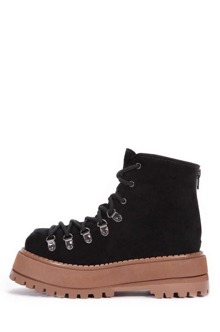 Jeffrey Campbell Shoes ROCKY Boots in Black Suede
