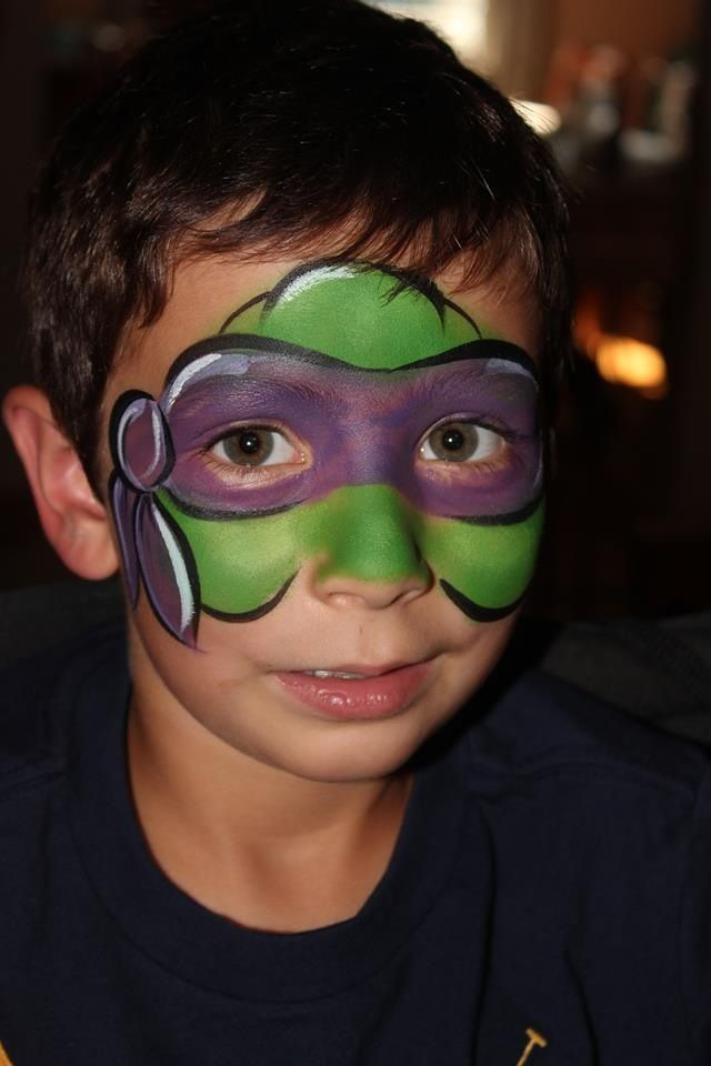 ninja turtle paited faces | Chantal Rushing || ninja turtle