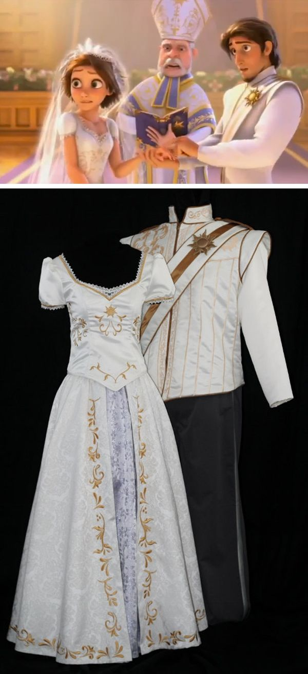 Adult flynn wedding costume custom made tangled ever for Ever after wedding dress