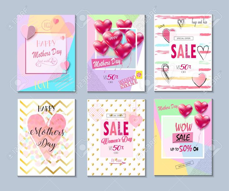 Love, Romance posters, greeting cards, sale banners set for Spring Holiday Women's Day, Mother's Day. Stock Vector - 96641520