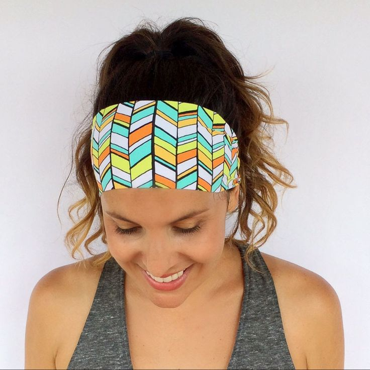 fabric flower yoga head band //Price: $6.74 & FREE Shipping //