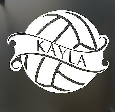 Volleyball Sticker Custom Name decal car window sticker pick your color mom!