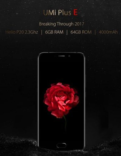 UMi Plus E  первый смартфон с SoC Helio P20 и 6 ГБ ОЗУ который оценен в $199