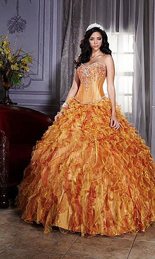 Unique Beaded Ball Gown at SimplyDresses.com