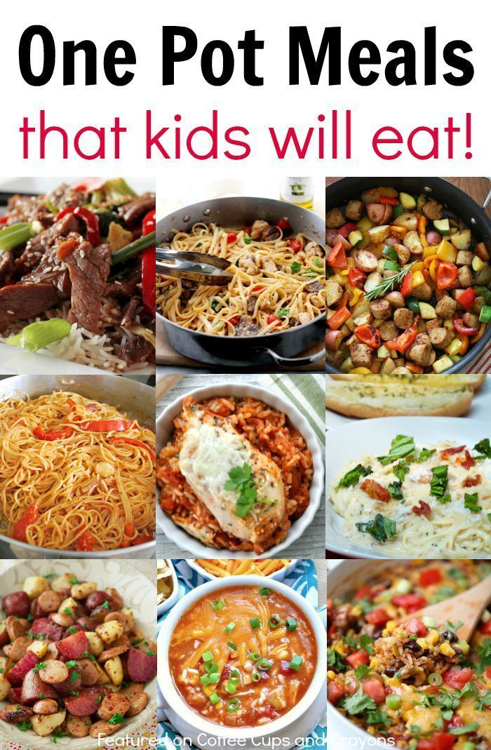 Kid Friendly One Pot Meals! Easy dinner recipes for busy nights!