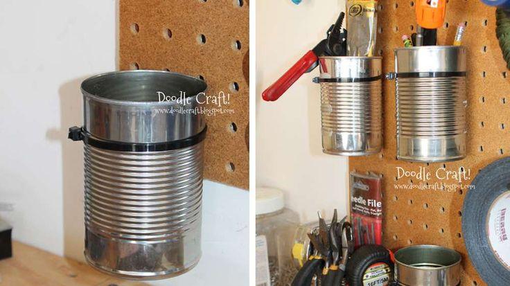 boite de conserve rangement outils atelier
