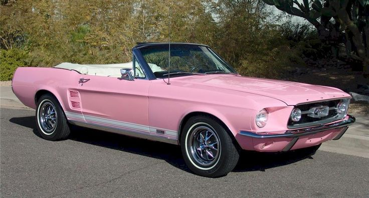 1967 | Pink 1967 Ford Mustang Convertible - MustangAttitude.com Photo Detail