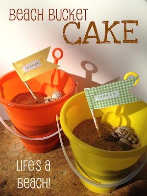 *Rook No. 17: recipes, crafts & creative nesting*: The Sweetest Summer Cake ~ Beach Bucket Cake TutorialSummer Cake, Birthday Parties, Summer Parties, Cake Tutorials, Beach Buckets, Birthday Cake, Sweetest Summer, Buckets Cake, Spreads Joy
