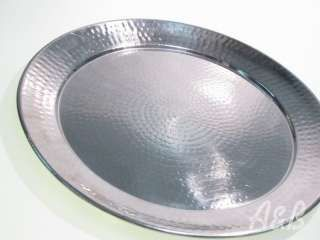 Round Hammered Stainless Steel Platters