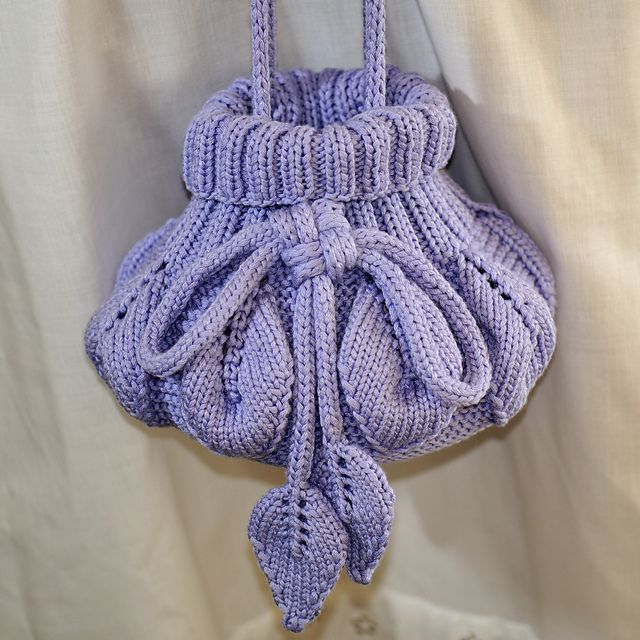 Free Knitting Pattern Small Bag : 17 Best images about Knitted bags and baskets on Pinterest ...