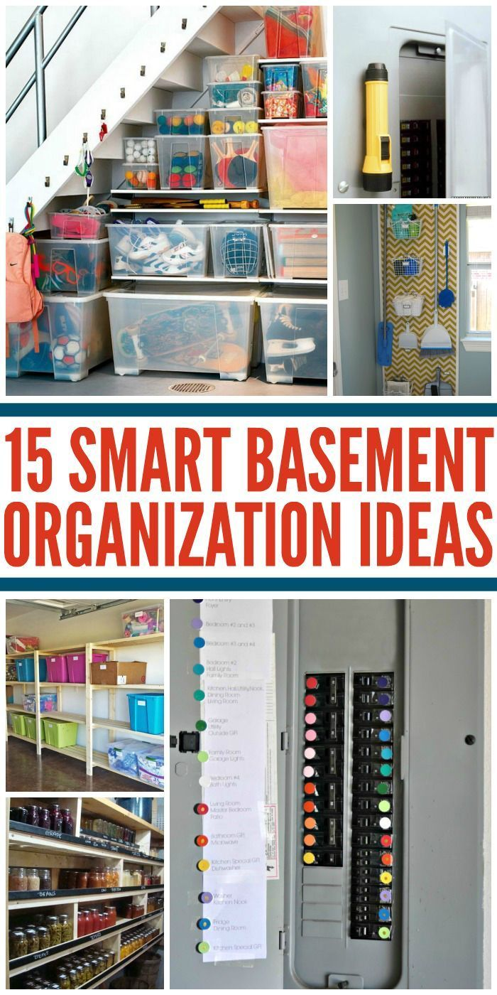 Unfinished basement storage ideas - Tips For An Organized Basement